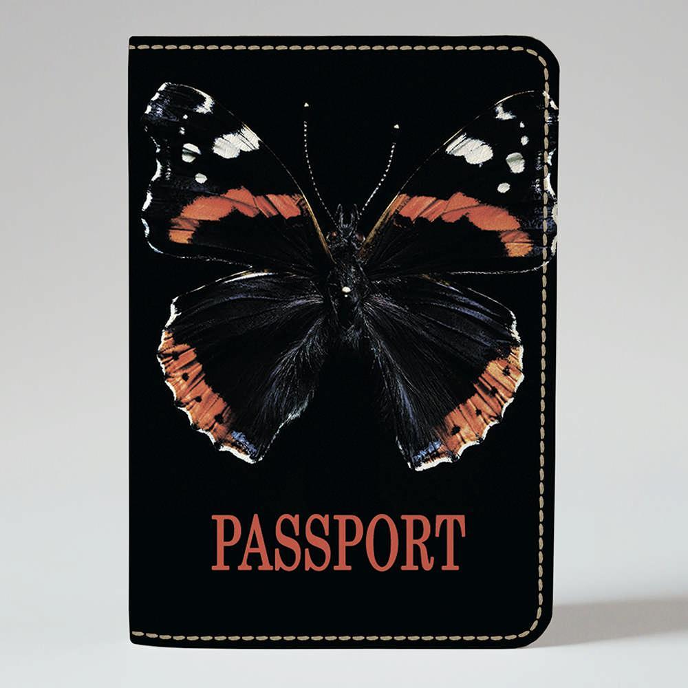 Обложка на паспорт v.1.0. Fisher Gifts 372 Черная бабочка (эко-кожа)