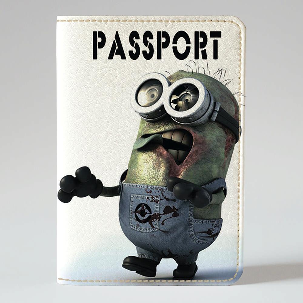 Обложка на паспорт v.1.0. Fisher Gifts 374 Злой миньон (эко-кожа)
