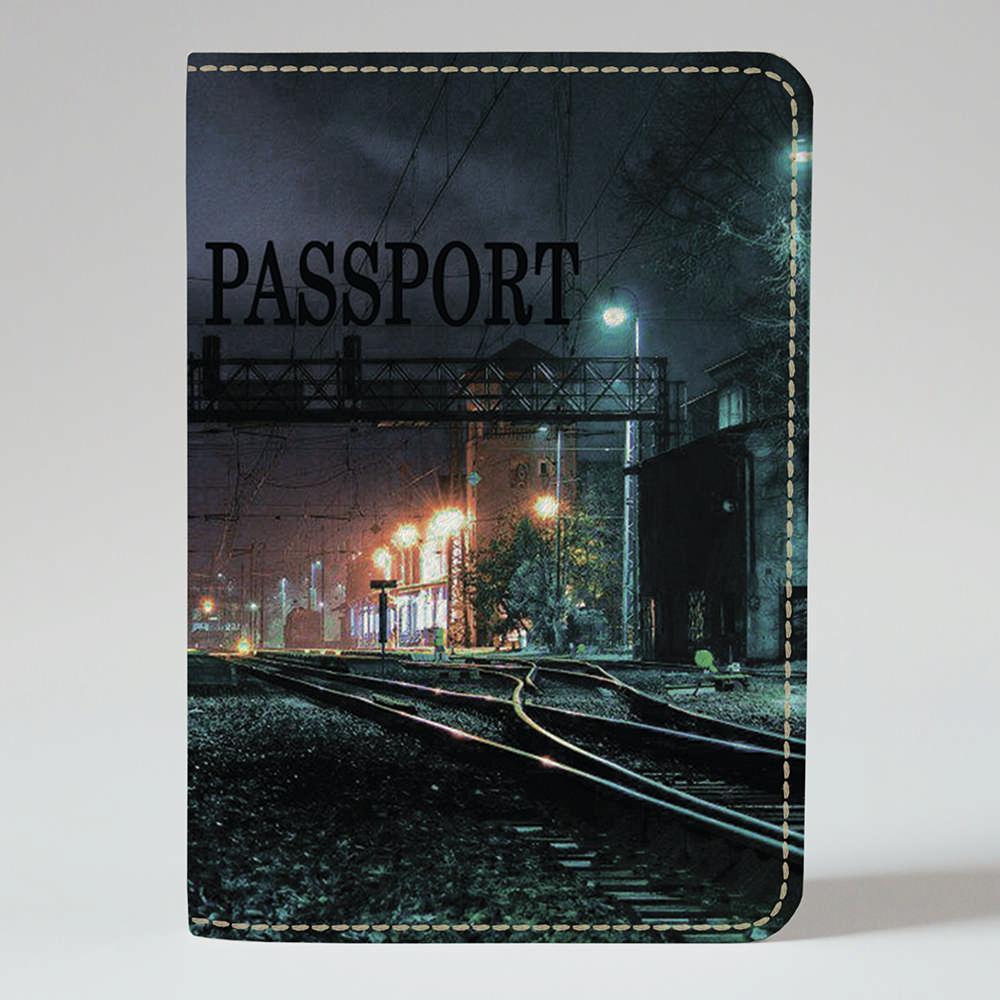 Обложка на паспорт v.1.0. Fisher Gifts 375 Ночной вокзал (эко-кожа)