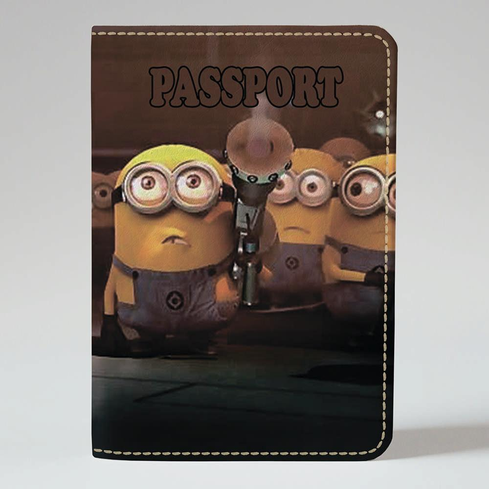Обложка на паспорт v.1.0. Fisher Gifts 380 Удивление миньонов (эко-кожа)
