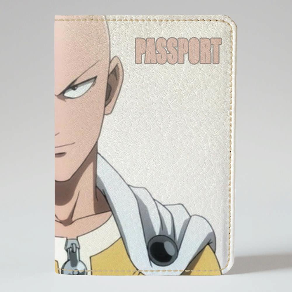 Обложка на паспорт v.1.0. Fisher Gifts 400 One Punch man (эко-кожа)