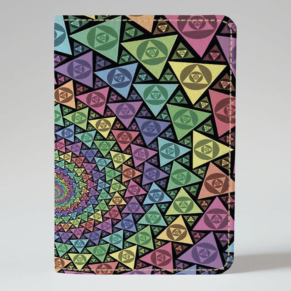 Обложка на паспорт v.1.0. Fisher Gifts 433 Треугольнички (эко-кожа)