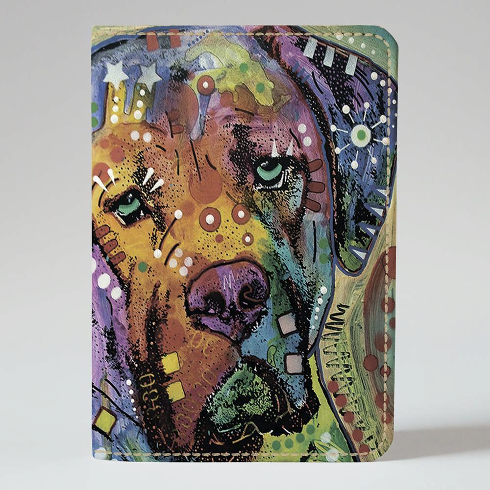 Обложка на паспорт v.1.0. Fisher Gifts 446 Психо пёс (эко-кожа)