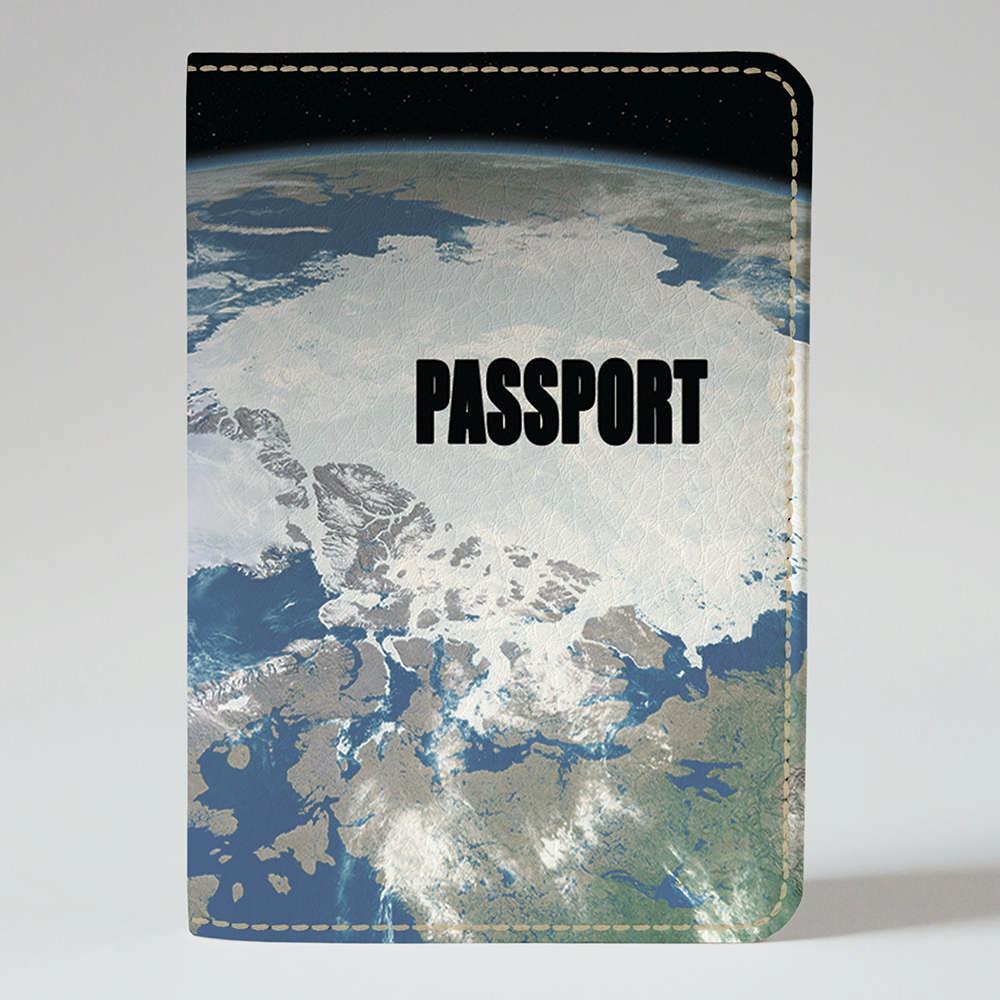 Обложка на паспорт Fisher Gifts 522 Пейзаж Земли с космоса (эко-кожа)