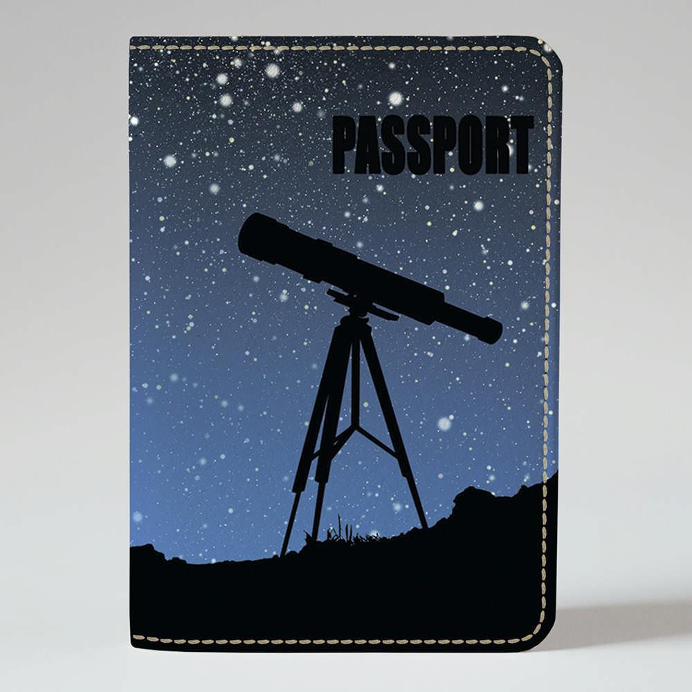 Обкладинка на паспорт 1.0 Fisher Gifts 530 Телескоп і небо (еко-шкіра)
