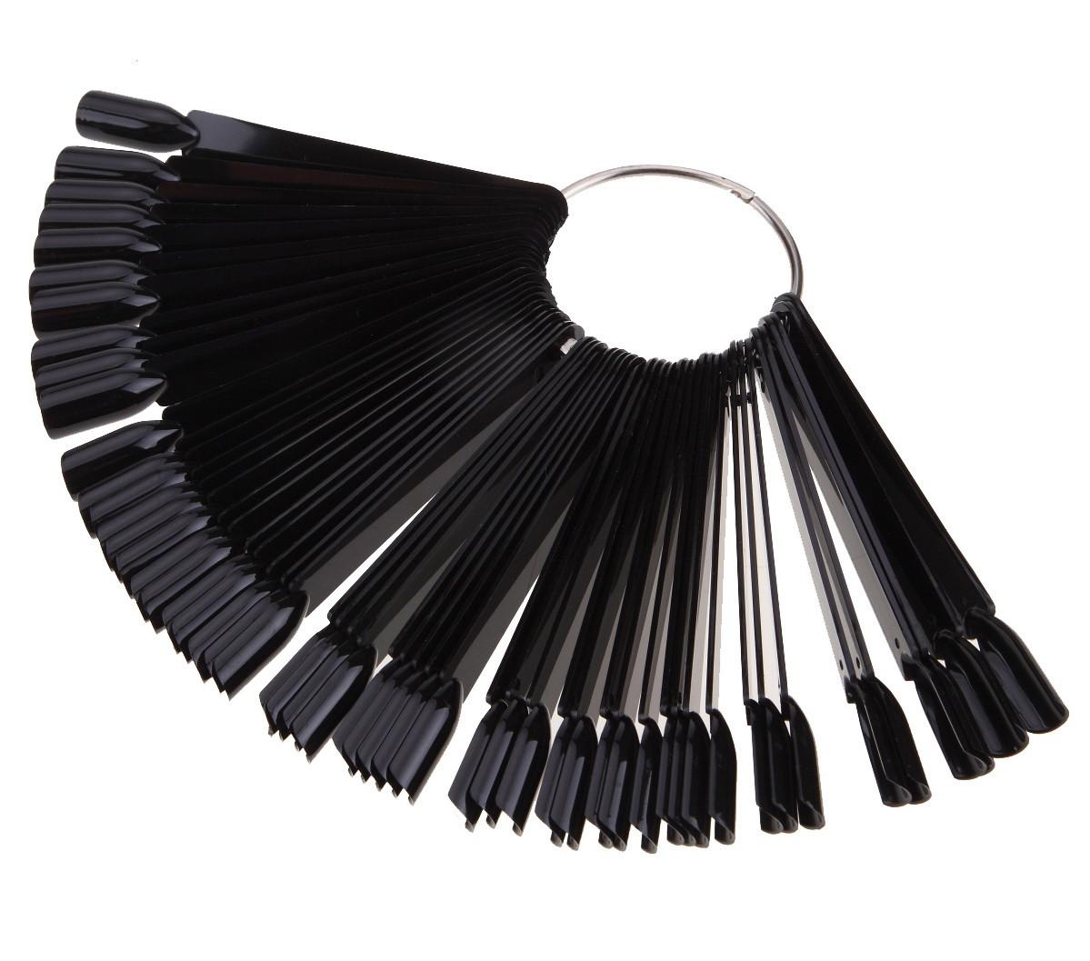Палитра - веер на кольце черная, 50 образцов