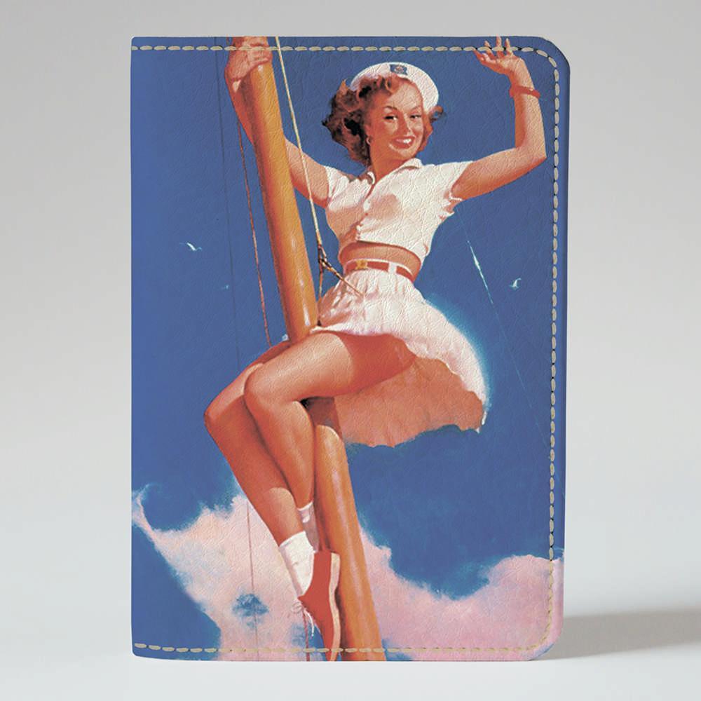 Обложка на паспорт v.1.0. Fisher Gifts 543 Пин-ап. Морячка (эко-кожа)