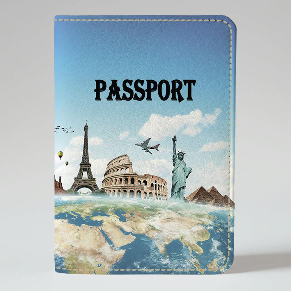 Обложка на паспорт v.1.0. Fisher Gifts 557 Вокруг света (эко-кожа)