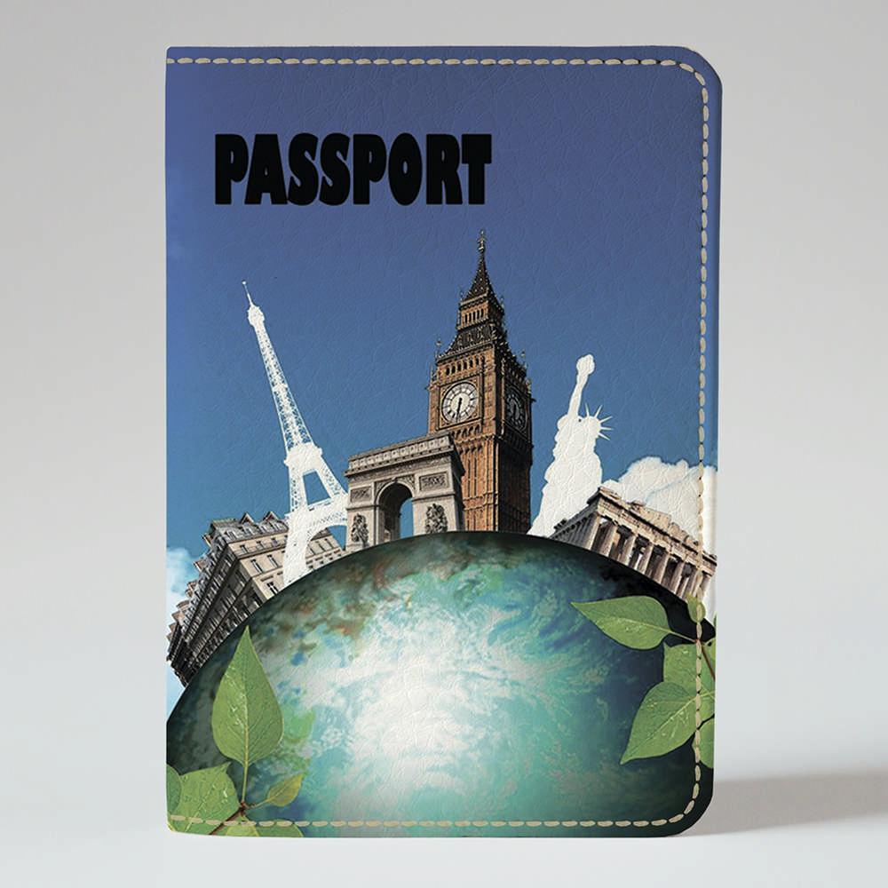Обложка на паспорт v.1.0. Fisher Gifts 565 Земля чудес (эко-кожа)