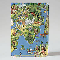 Обложка на паспорт Fisher Gifts 561 Карта мира-весёлый арт (эко-кожа)