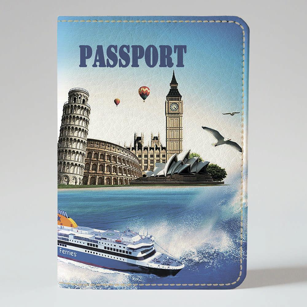 Обкладинка на паспорт v.1.0. Fisher Gifts 566 Супер подорож (еко-шкіра)