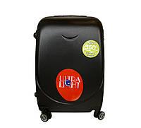 Дорожный чемодан с двойными 4 колесами (средний) черный, артикул: 6-243, фото 1