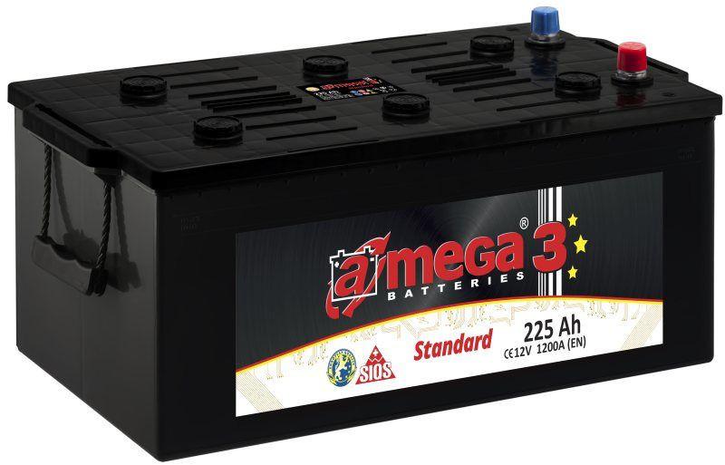 Аккумулятор A-mega Standard 6СТ-225-АЗ F (3)