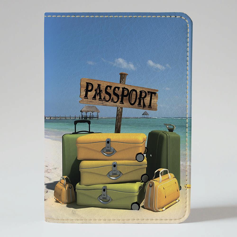 Обложка на паспорт 1.0 Fisher Gifts 660 Пляжные чемоданы (эко-кожа)