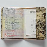 Обложка на паспорт v.1.0. Fisher Gifts 668 Ноты и птица (эко-кожа), фото 4
