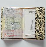Обложка на паспорт v.1.0. Fisher Gifts 670 Черно-белые цветы фон (эко-кожа), фото 4