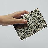 Обложка на паспорт v.1.0. Fisher Gifts 670 Черно-белые цветы фон (эко-кожа), фото 5