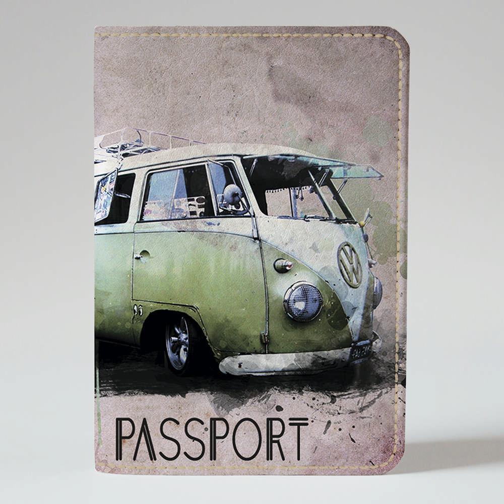 Обложка на паспорт v.1.0. Fisher Gifts 678 Volkswagen ретро (эко-кожа)