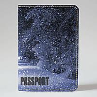 Обложка на паспорт v.1.0. Fisher Gifts 684 Зимний парк (эко-кожа)