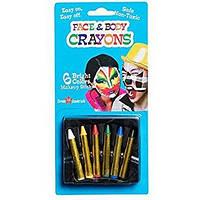Грим карнавальный карандаши 6 шт.