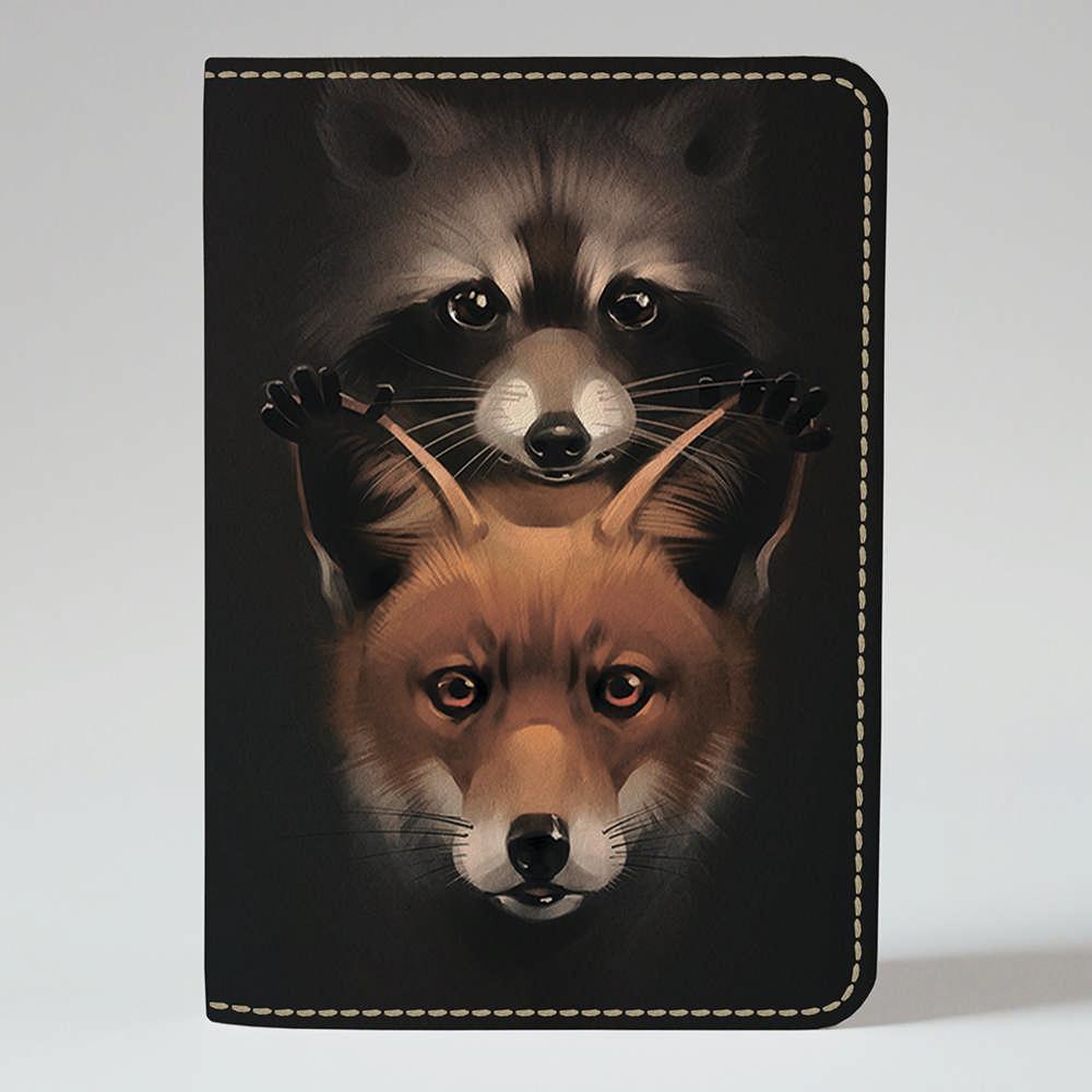 Обложка на паспорт v.1.0. Fisher Gifts 710 Енот и лисичка (эко-кожа)