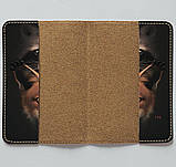 Обложка на паспорт v.1.0. Fisher Gifts 710 Енот и лисичка (эко-кожа), фото 3