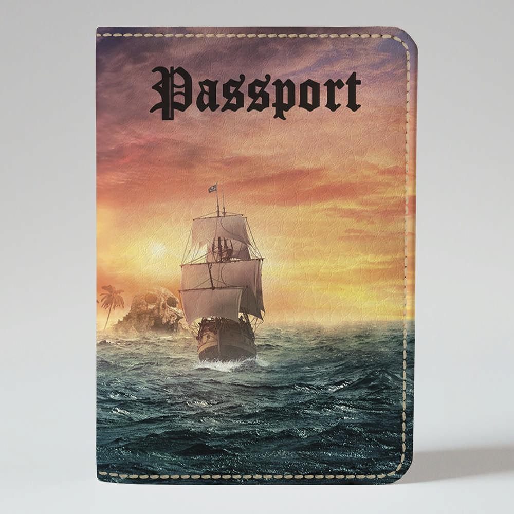Обложка на паспорт Fisher Gifts 722 Остров сокровищ (эко-кожа)