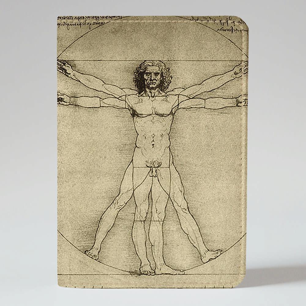 Обложка на паспорт v.1.0. Fisher Gifts 729 Человек Да Винчи (эко-кожа)