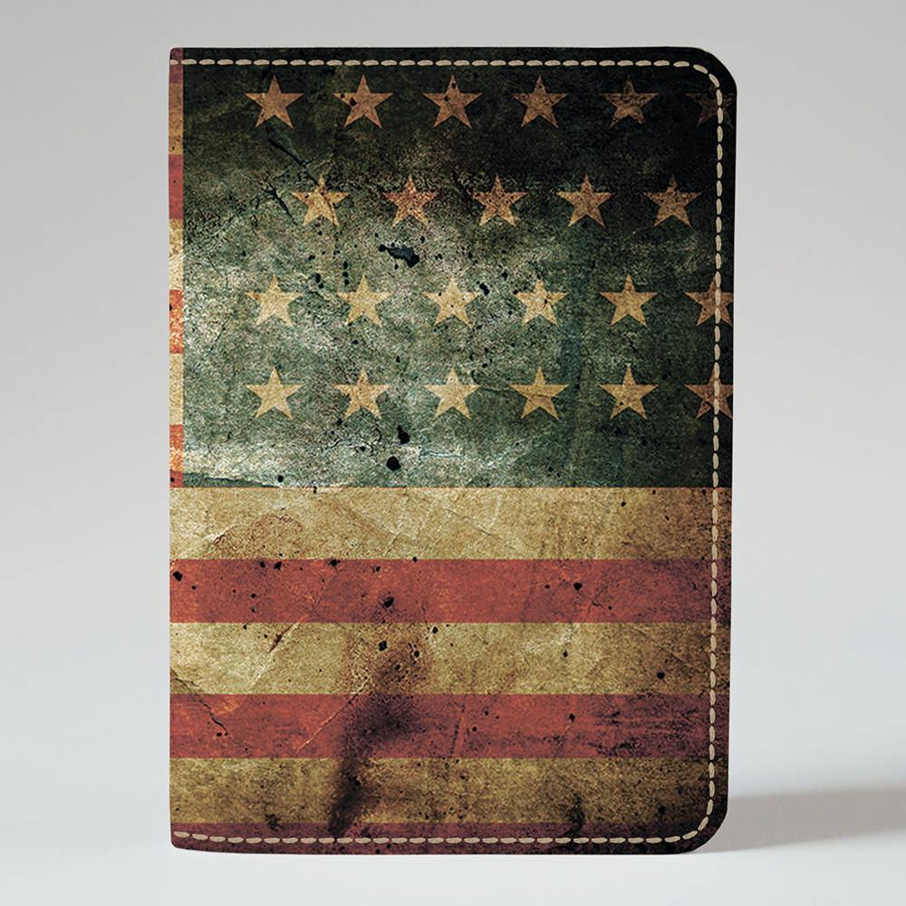 Обложка на паспорт v.1.0. Fisher Gifts 746 Американский флаг old (эко-кожа)
