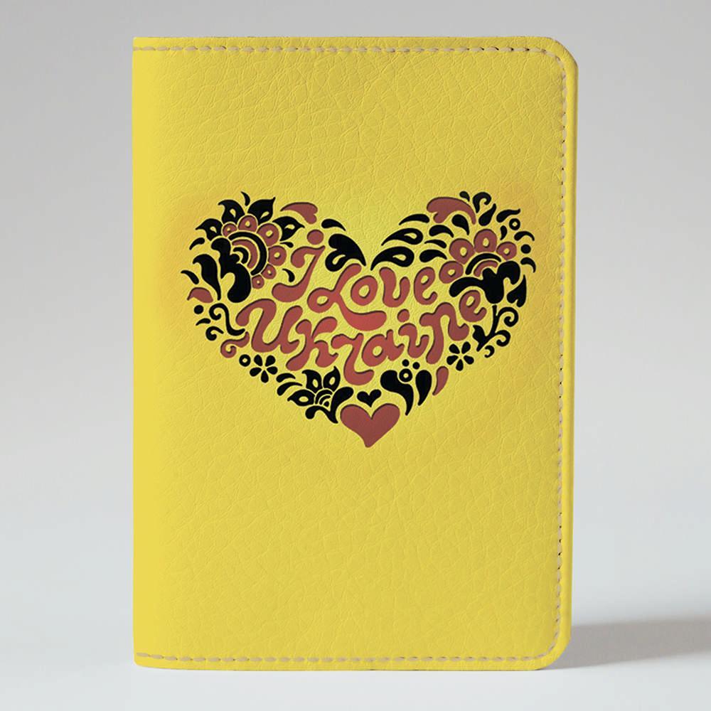 Обложка на паспорт Fisher Gifts 754 I love Ukraine сердце (эко-кожа)