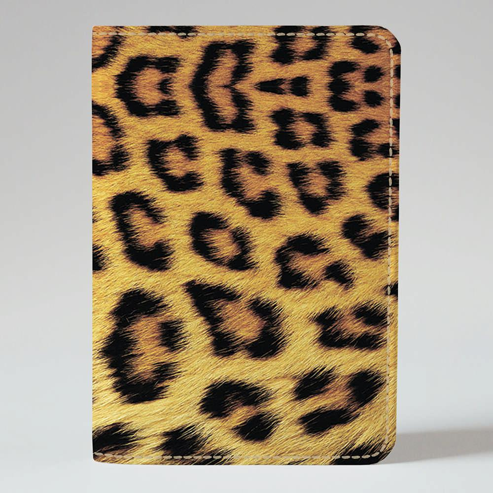 Обложка на паспорт v.1.0. Fisher Gifts 758 Леопардовый фон (эко-кожа)