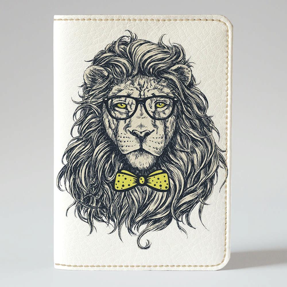Обложка на паспорт Fisher Gifts 765 Лев в очках (эко-кожа)