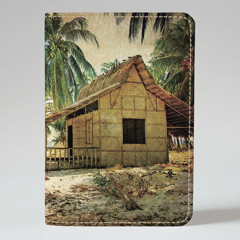 Обложка на паспорт v.1.0. Fisher Gifts 782 Домик на берегу (эко-кожа)