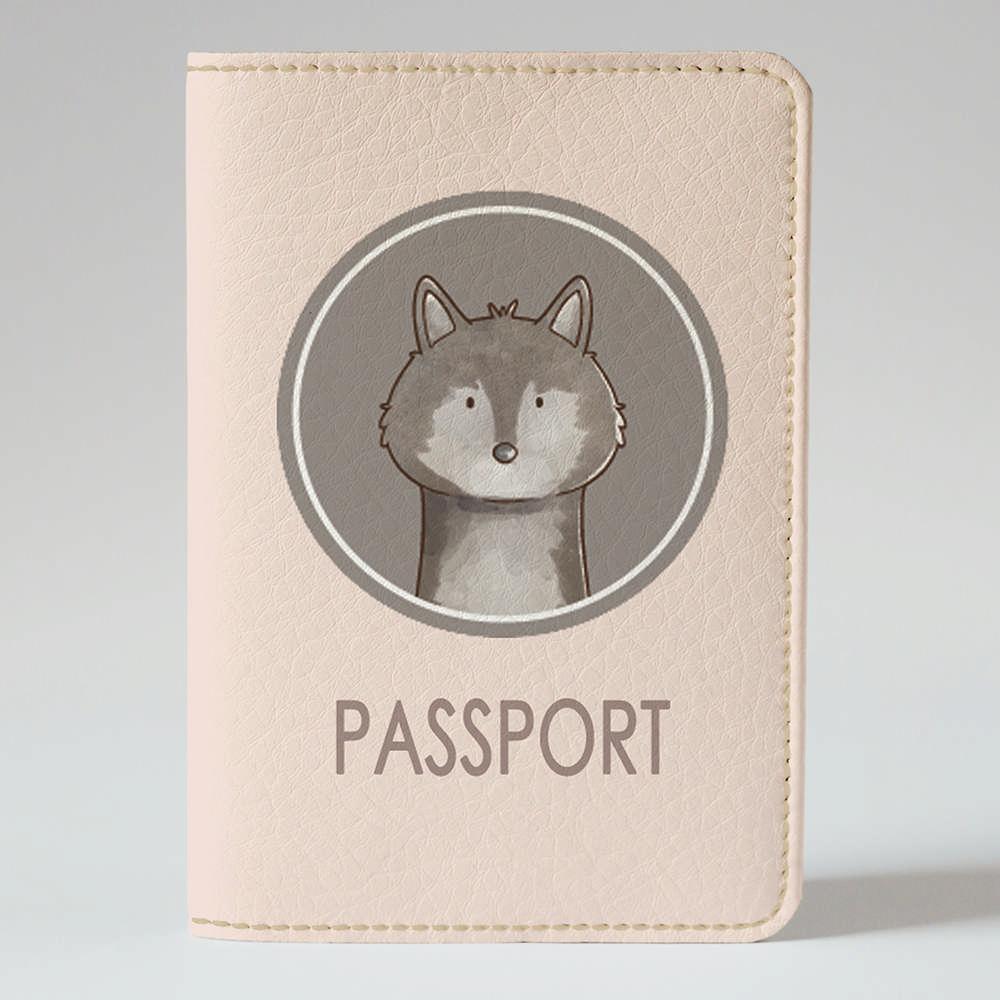 Обложка на паспорт Fisher Gifts 805 Лесной волк (эко-кожа)