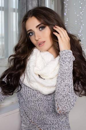 Шарф-снуд Лисет 4418-88 белый