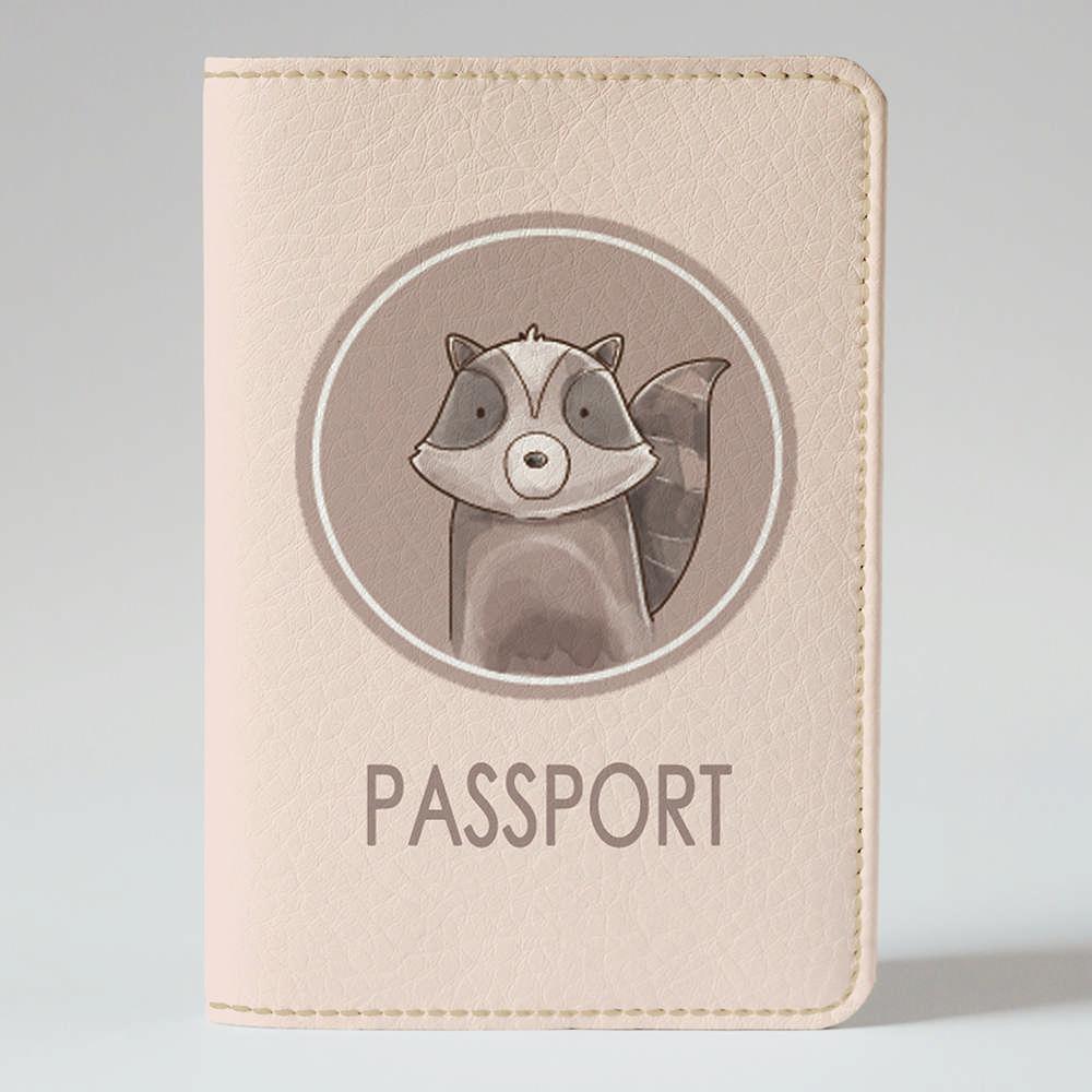 Обложка на паспорт v.1.0. Fisher Gifts 807 Лесной енотик 2 (эко-кожа)