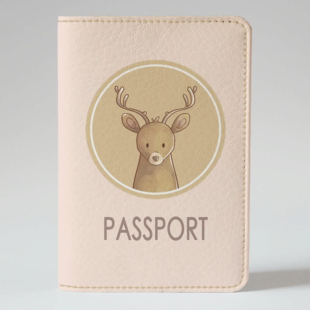 Обложка на паспорт v.1.0. Fisher Gifts 809 Лесной олень (эко-кожа)