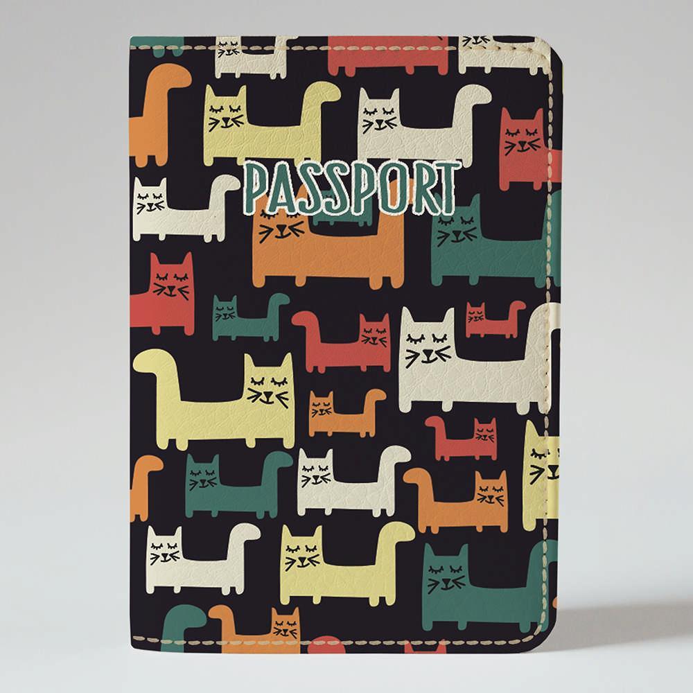 Обложка на паспорт v.1.0. Fisher Gifts 816 Котики муркотики (эко-кожа)