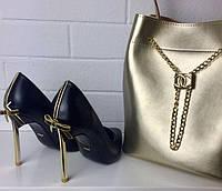Туфли женские Эко Кожа На шпильке Золото C@sadei