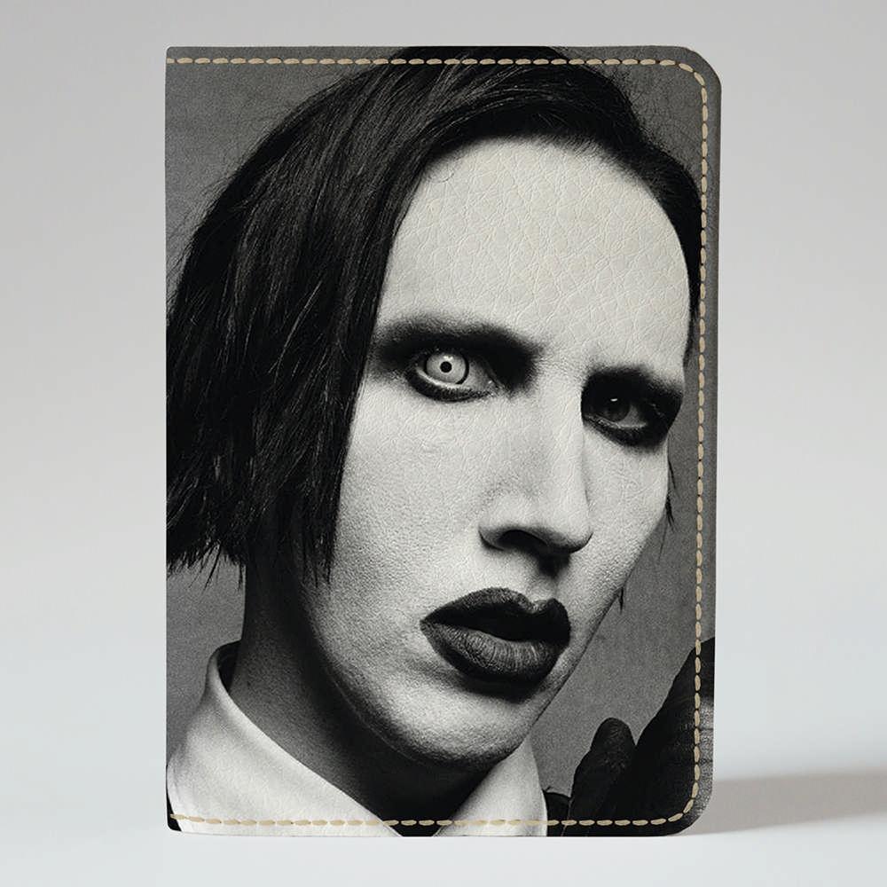 Обложка на паспорт v.1.0. Fisher Gifts 844 Marilyn Manson (эко-кожа)