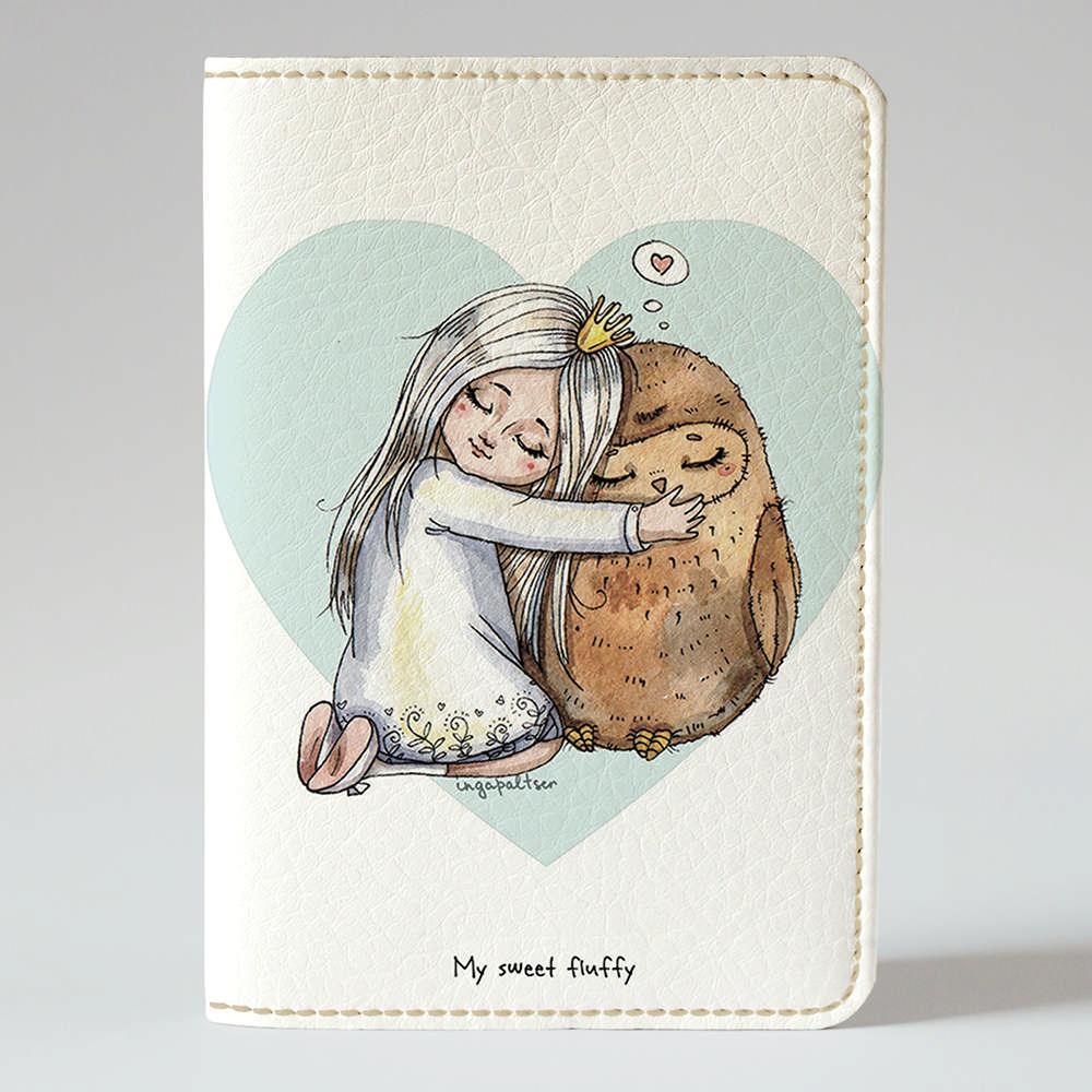 Обложка на паспорт Fisher Gifts 862 Моя милая сова (эко-кожа)