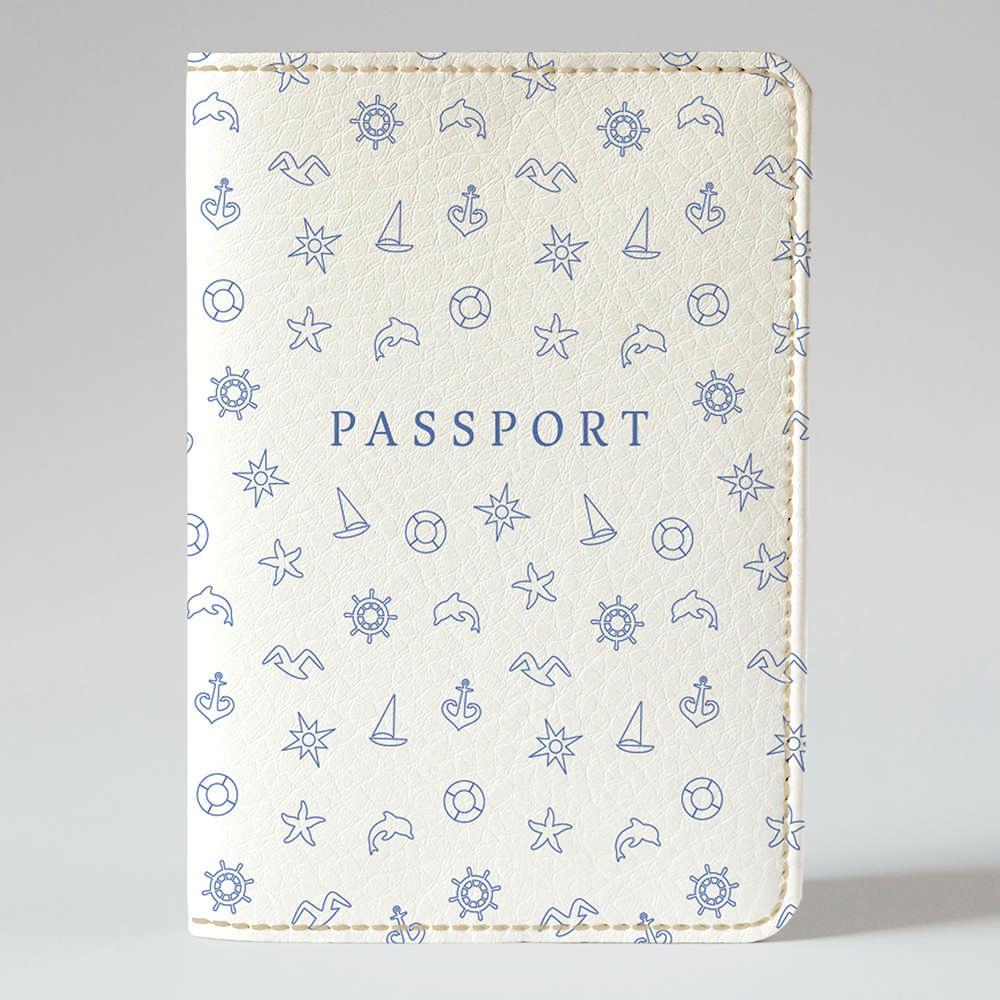 Обложка на паспорт v.1.0. Fisher Gifts 885 Морские приключения фон (эко-кожа)