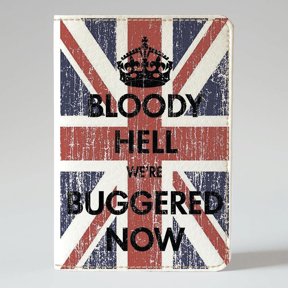 Обложка на паспорт v.1.0. Fisher Gifts 894 Флаг Британии и корона (эко-кожа)