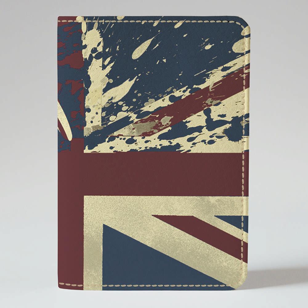 Обложка на паспорт v.1.0. Fisher Gifts 896 Флаг Великобритании 2 (эко-кожа)