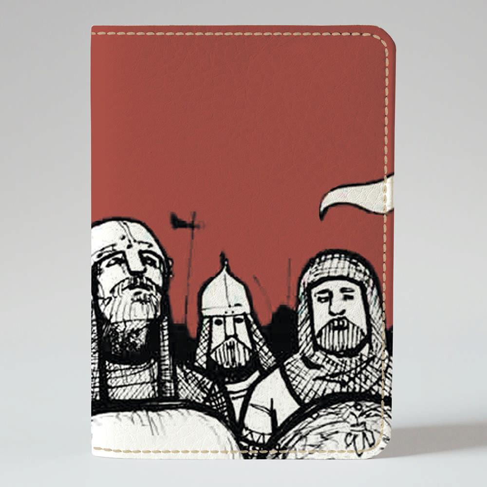 Обложка на паспорт v.1.0. Fisher Gifts 899 Английские рыцари (эко-кожа)