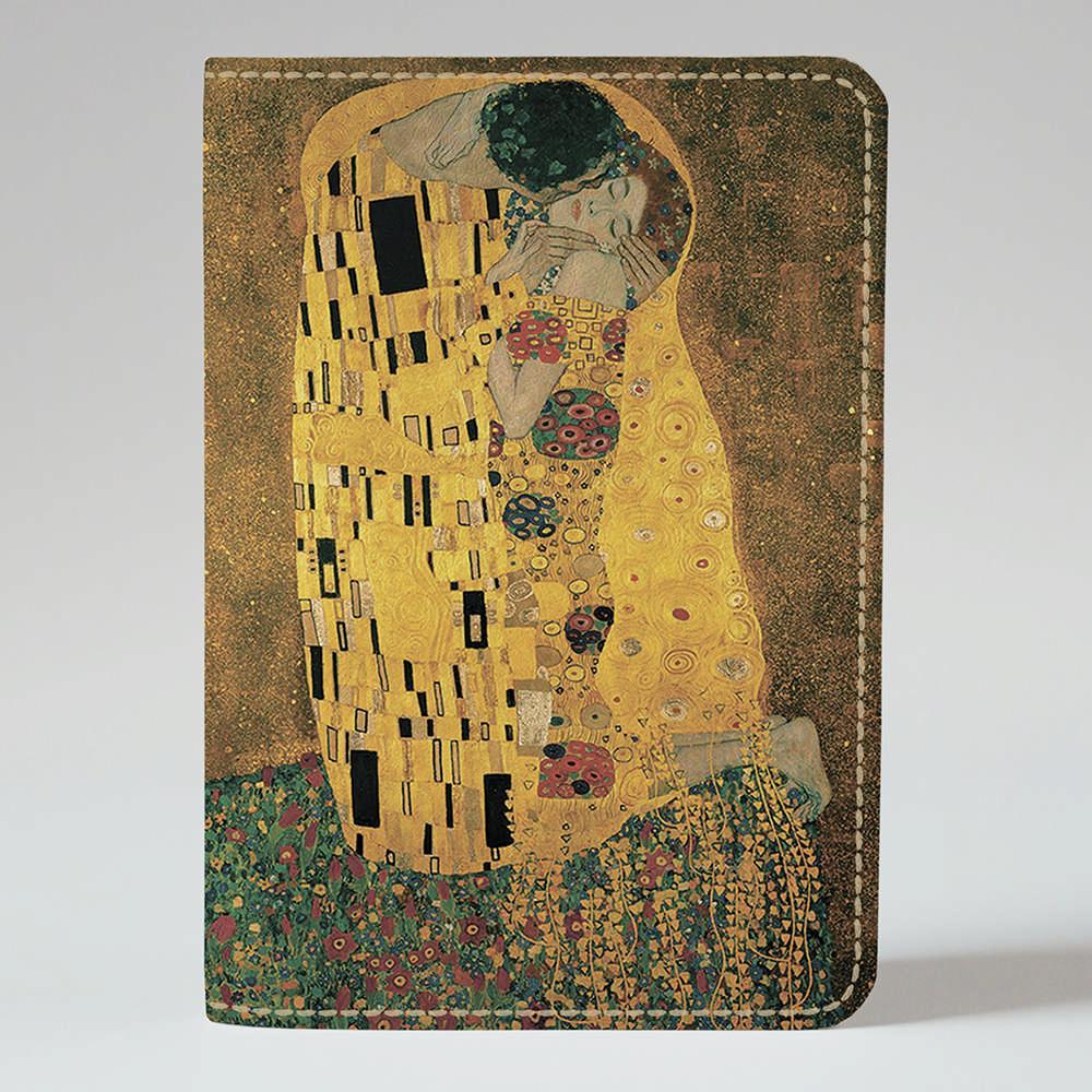 Обложка на паспорт Fisher Gifts 901 Густав Климт, Поцелуй (эко-кожа)