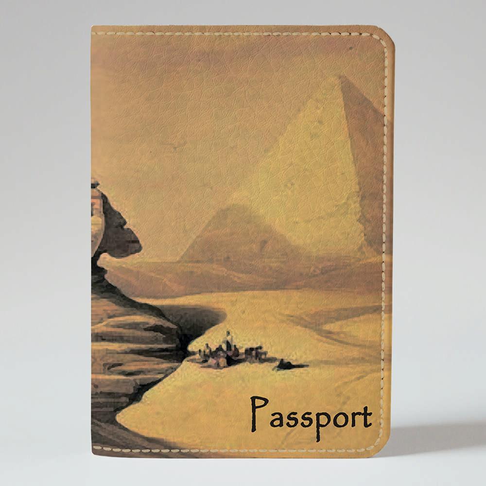 Обложка на паспорт v.1.0. Fisher Gifts 910 Величные Пирамиды Хеопса (эко-кожа)