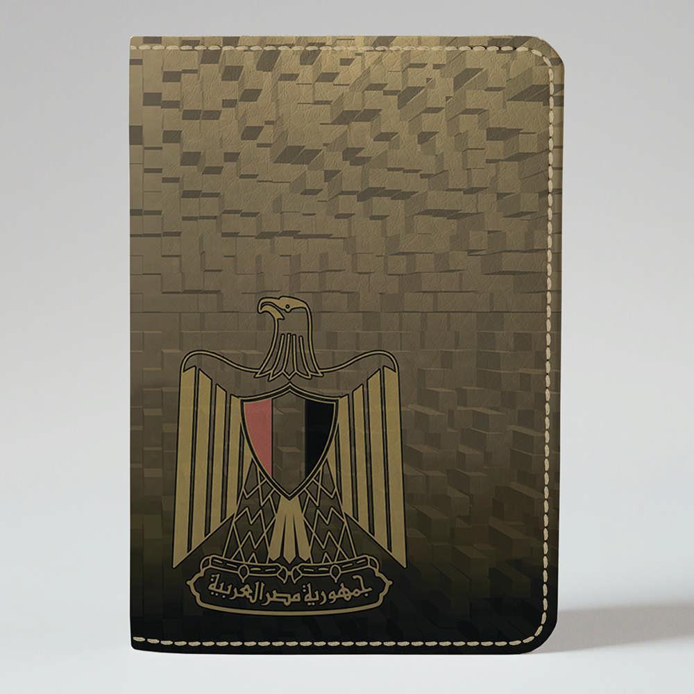 Обложка на паспорт v.1.0. Fisher Gifts 909 Бедуин и верблюд в пикселях (эко-кожа)
