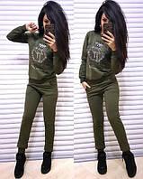 Женский спортивный костюм из двухнитки на флисе 4105166