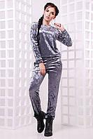 Велюровый женский костюм с прямыми штанами 4710235